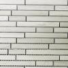 12 x 12 White Wooden Random Mosaic Tile  at Builders Surplus in Louisville Kentucky