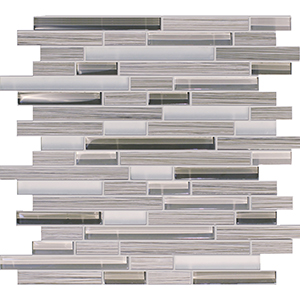 Bamboo Walnut Porcelain & Glass Mosaic Tile at Builders Surplus in Louisville Kentucky