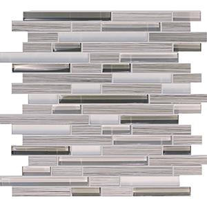 Bamboo Walnut Porcelain & Glass Mosaic Tile at Builders Surplus in Louisville Kentucky