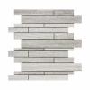 Interlock Wooden White Ceramic Mosaic Tile  at Builders Surplus in Louisville Kentucky