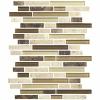 Ivory Emperador & Glass Mosaic Tile at Builders Surplus in Louisville Kentucky