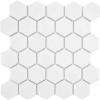 White 2x2 Hexagon Mosaic Tile  at Builders Surplus in Louisville Kentucky