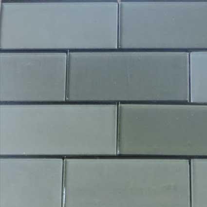 Metallic Gray Glass Subway Tile at Builders Surplus in Louisville Kentucky