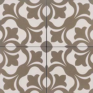 8x8 Kenzzi Anya Patterned Tile  at Builders Surplus in Louisville Kentucky
