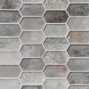 12 x 12 Savoy Picket Pattern Mosaic Tile  at Builders Surplus in Louisville Kentucky