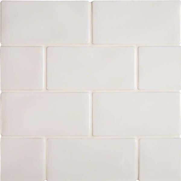 Whisper White Glossy Ceramic Subway Tile  at Builders Surplus in Louisville Kentucky