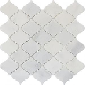 12 x 12 Arabesque Carrara Marble Mosaic Tile  at Builders Surplus in Louisville Kentucky