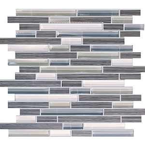 Bamboo Storm Porcelain & Glass Mosaic Tile at Builders Surplus in Louisville Kentucky