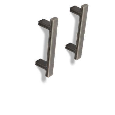"""Anwick 4-5/16"""" OL Rectangle Cabinet Pull. Holes are 3"""" center-to-center.Anwick 4-5/16"""" OL Rectangle Cabinet Pull. Holes are 3"""" center-to-center."""
