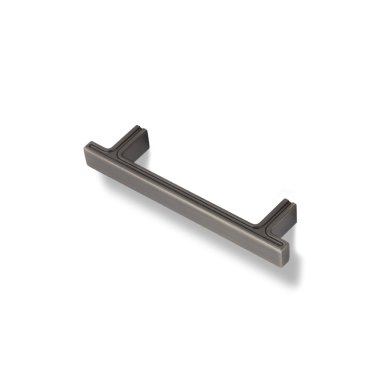 """Anwick 5-1/8"""" OL Rectangle Cabinet Pull. Holes are 96 mm center-to-center."""