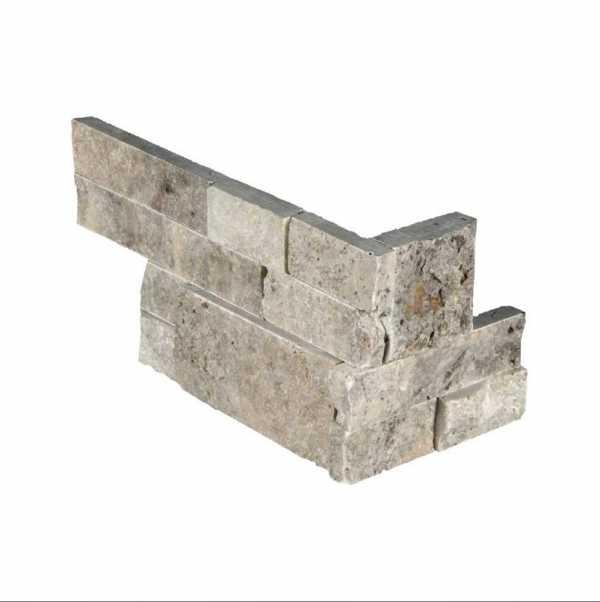Silver Travertine Stacked Stone