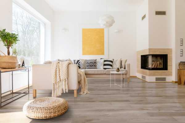 Whitfield Gray Luxury Vinyl Tile Room