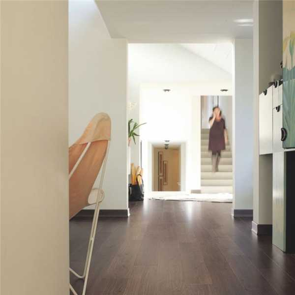 Quick Step Dark Gray Laminate Flooring room scene