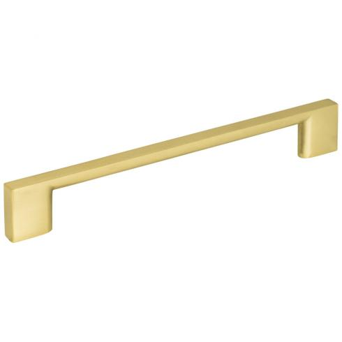 160 MM CENTER-TO-CENTER BRUSHED GOLD SQUARE SUTTON CABINET BAR PULL