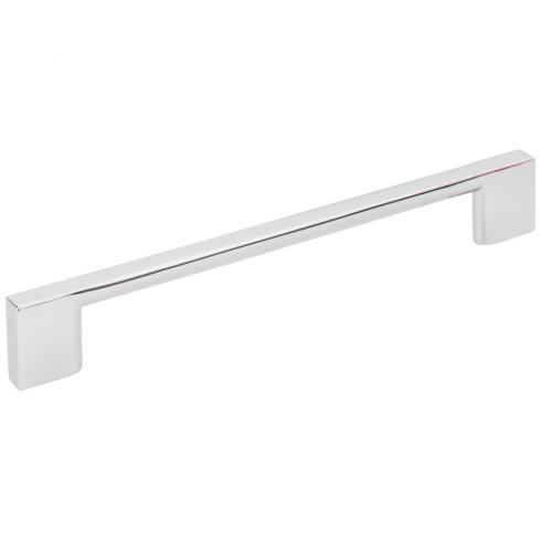 160 MM CENTER-TO-CENTER POLISHED CHROME SQUARE SUTTON CABINET BAR PULL