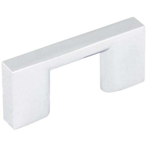 32 MM CENTER-TO-CENTER POLISHED CHROME SQUARE SUTTON CABINET BAR PULL
