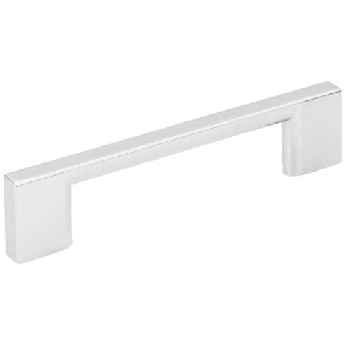 96 MM CENTER-TO-CENTER POLISHED CHROME SQUARE SUTTON CABINET BAR PULL