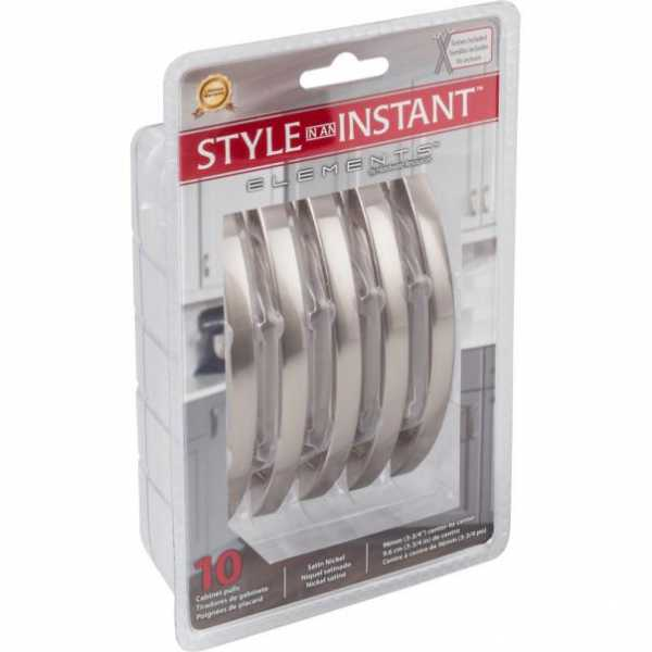 96 MM CENTER-TO-CENTER SATIN NICKEL ARCHED SOMERSET RETAIL PACKAGED CABINET PULL